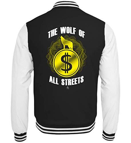 EBENBLATT The Wolf of All Streets Dolar USD Geld US-Dolar Kurs Exchange Rate Geschenk Geschenkidee - College Sweatjacke - Geld Exchange Rate
