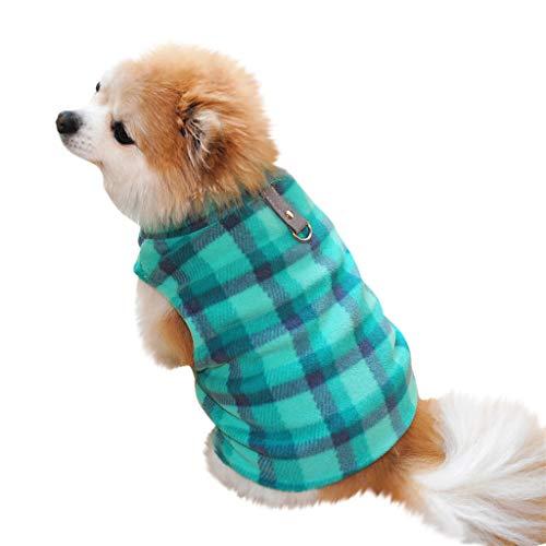 XXYsm Hundebekleidung Kleine Hunde Katze Kleidung Winter Villus Warme Kariert Weste Haustier Welpen Costumes Blau ()