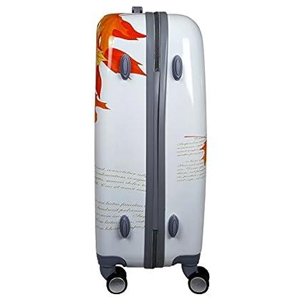 QTC-Hartschalen-Reisekoffer-TSA-Sicherheits-Zahlenschloss-mit-4-Doppelrollen-Bilder