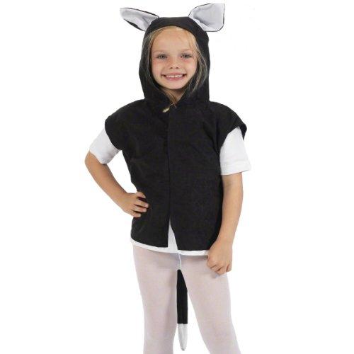 Unbekannt Charlie Crow Schwarzes Kätzchen Kostüm für Kinder. 3-8 Jahre. (Kinder-kostüm Der Kater Gestiefelte)