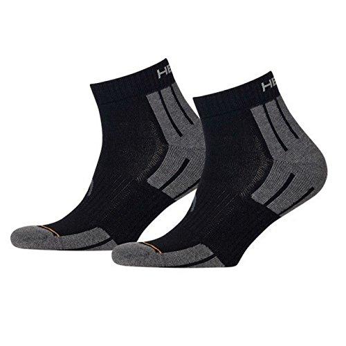 HEAD Unisex Performance Quarter Socken Sportsocken 4er Pack black 200 - 43/46 -
