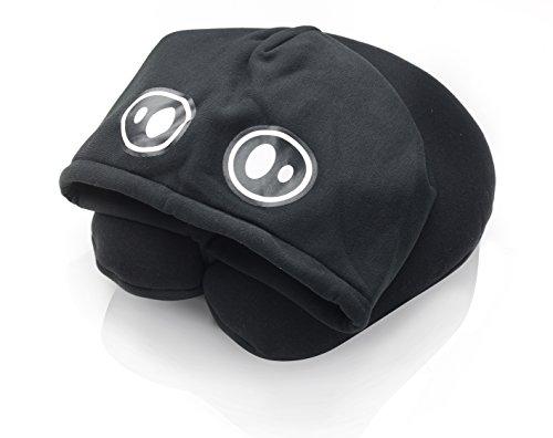 Nackenkissen mit Mütze Farbe schwarz Kapuzen und Nackenkissen