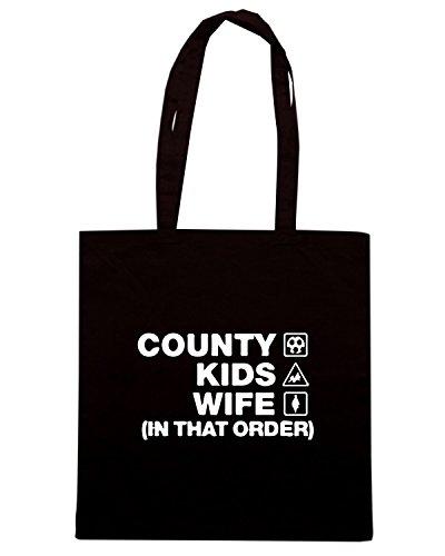 T-Shirtshock - Borsa Shopping WC1180 notts-county-kids-wife-order-tshirt design Nero