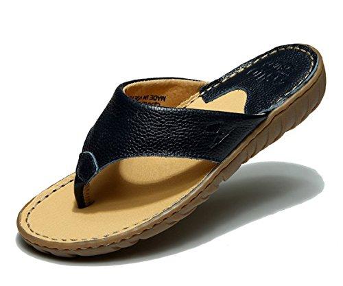 Dqq En Cuir, Pour Femme, Avec Cordon-navy Sandal Flip