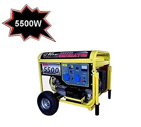 Groupe électrogène/Générateur de courant électrique 220 V-5500W démarrage avec des roues (:) Cod. 4271