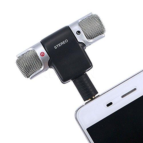 Owikar stéréo de 3,5mm micro à condensateur électret ECM-DS70P Clear Voice Mini microphone pour l'enregistrement interview universel pour Sony iPhone Samsung téléphones Android et tablette PC For phones