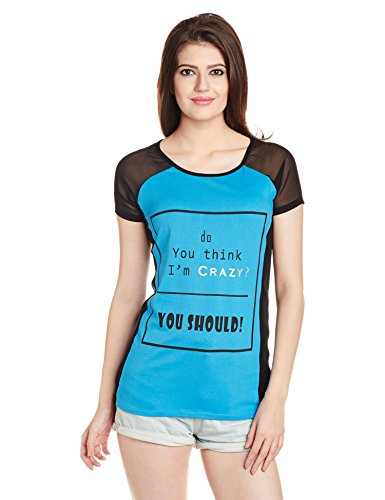 Voi Jeans Women's Graphic Print T-Shirt (VOTTW322_Multi_Small)
