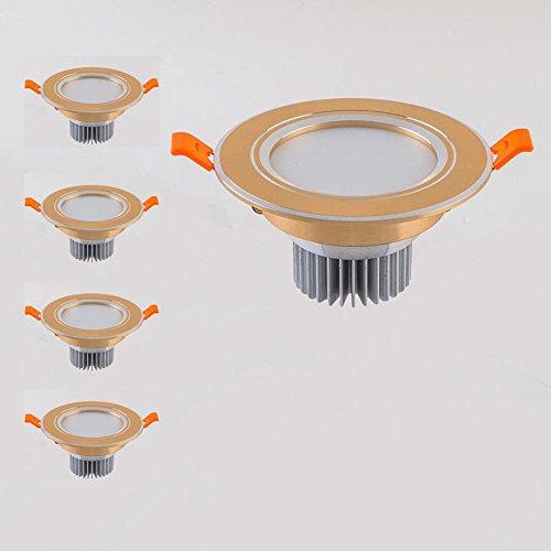 OOFAY LIGHT® Packung mit 4, 7W LED Deckenspot Einbau Downlight Super hell Runde Deckenleuchte 5730 SMD Spotlight - 100 mm Ausschnitt 70 mm Tiefe , B , warm white 3000K