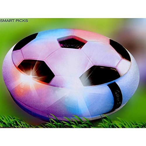 RK Toys - Kids Toys Powered Pneumatic Suspended Hover Soccer Ball/Disc with Foam Bumpers and Colorful LED Lights Size 4 Football/Soccer Ball for Kids (Multicolour) -
