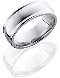 SlipRock Cobalt Chrome, High Domed Edged Polished Wedding Band (sz H to Z1)