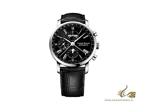 Louis Erard Excellence Automatic Watch, Black, 40 mm, Chrono, 80231AA02.BDC51