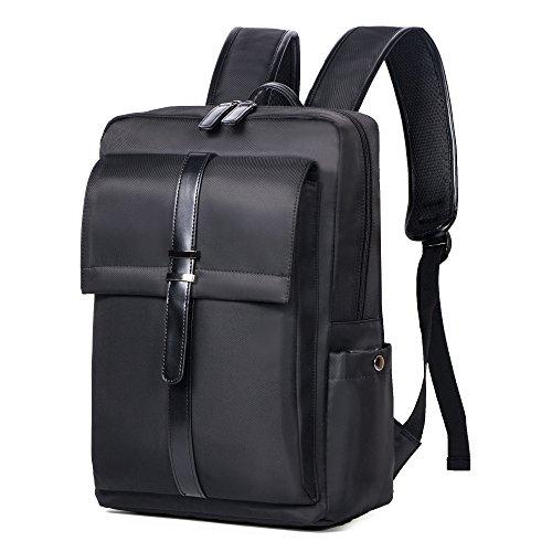 Oflamn Zaino per laptop aziendale Resistente all'acqua Sottile Borsa da viaggio per laptop da 14 pollici (black)