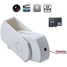 Mengshen 8GB Portable Mini DVR Estilo de disco USB ocultos Cámara Spycam Detector de Movimiento Video Grabador Blanco MS-U801C