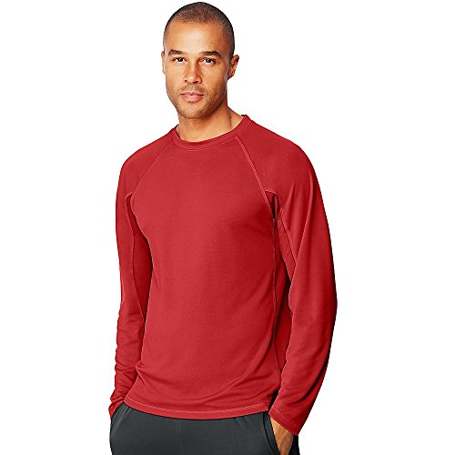 Hanes Mens Sport X-Temp Performance Long-Sleeve Training T-Shirt