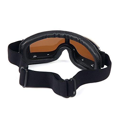 Masque moto type rétro Noir 3