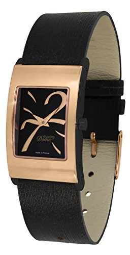Moog Paris Dome Women's Watch with Black Dial, Black Strap in Jeans - M41661-412