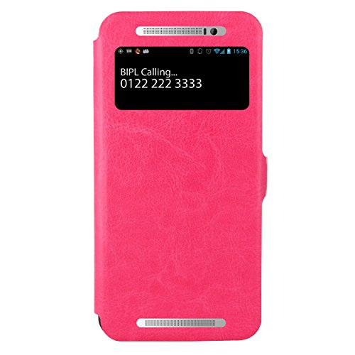 HTC One E8 Flip Cover, Pu Leather Case Cover,Premium Case for HTC One E8 Dual Sim (Pink)  available at amazon for Rs.499