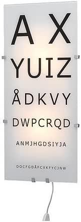 Ikea Gyllen Wall Lamp Black White Letters Amazon Co Uk Lighting