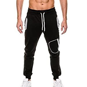 Männer Einfarbig Sporthosen Elastischer Taillenkordelzug Lässige Jogginghose Laufen im Freien Laufen Fitness Hosen