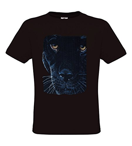 Ethno Designs Wildlife - Black Panther - Tiermotiv Raubtiere - Schwarzer Jaguar T-Shirt für Damen & Herren - regular fit Black