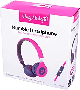 speel Goed WM HS de bt550pk - Wonky Monkey Headphone Wireless, Color Rosa