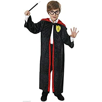 BOYS GIRLS WIZARD KIDS FANCY DRESS ROBE OUTFIT COSTUME 7 - 9 YEARS ... 474d7f36d