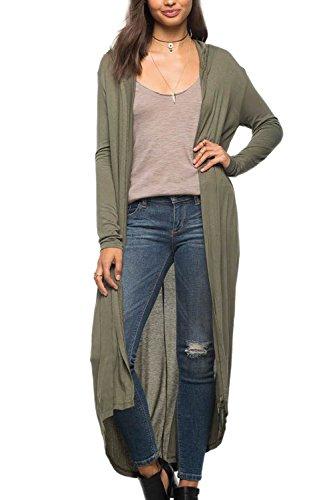 Knit Cardigan Long Maxi pull femmes green