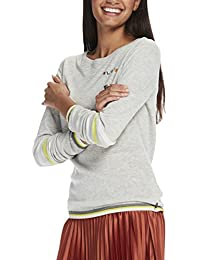 Maison Scotch Damen Tops Crewneck Knit with Various Embroidery Artworks and Sleeve St