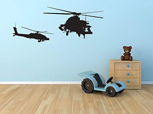 jiushizq Militrary Elicottero Silhouette Fresco Volare nel Cielo Wall Sticker Home Soggiorno Arte Creativo Decorazione Speciale Adesivo Murale WM 45X95CM
