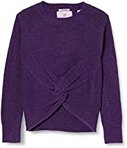 Scotch & Soda Wrap Over Knit with Pointelle Stitch In Recycled Blend suéter para N