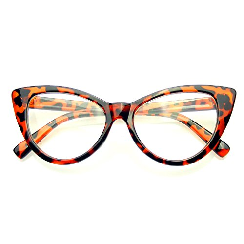 Emblem Eyewear Ojo De Gato Super Gafas Gafas De Lentes Moda Vintage Mod Claro (Marrón)