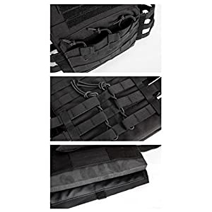 Veste tactique, QMFIVE MOLLE RRV Assaut Veste de combat avec pochette / Traning Protection de sécurité
