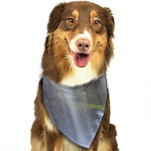 dfegyfr Water Fall Pet Scarf/Printing Pet Dog Cat ()