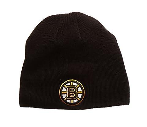 Boston Bruins Black Edge Skull Cap - NHL Cuffless Winter