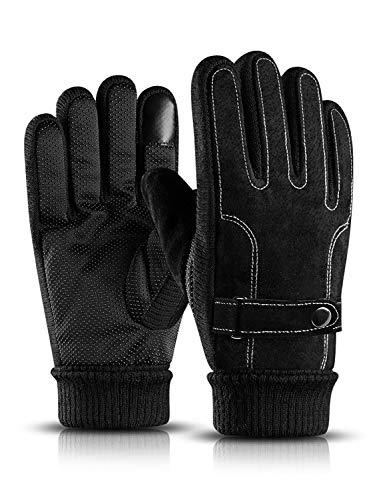 BOYOU Herren Warmen Windproof Radfahren Handschuhe, Winter Outdoor Touchscreen Handschuhe für Herren -