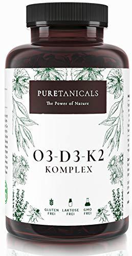 Omega 3 + Vitamin D3, K2 MK7 All-Trans mikroverkapselt - Premium Essentials O3-D3-K2 hochdosiert -...