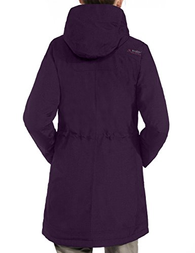 maier sports Damen Outdoor Mantel Lisa potent purple