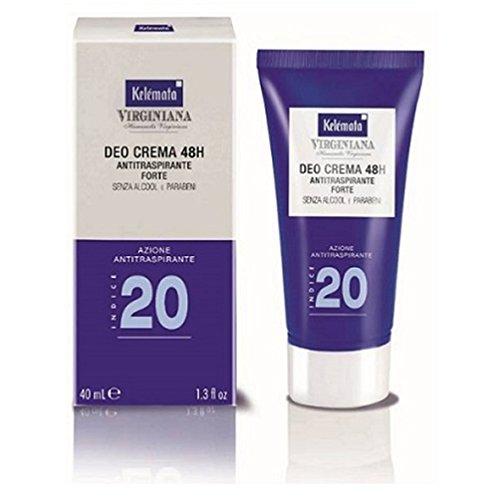 Kelemata Virginiana Deodorante Crema Azione Antitraspirante Indice 20 40 ml