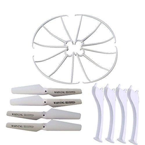 KidsHobby® Upgraded 4 Farben Syma X5SC X5SW Ersatzteil-Hauptblatt-Propeller und Propeller Schützer Blades Frame & Landing Skid inklusive - 3