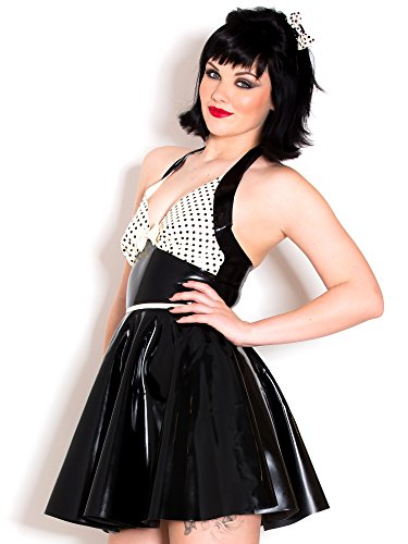 Robe danseuse Polka Polly en Latex Noir