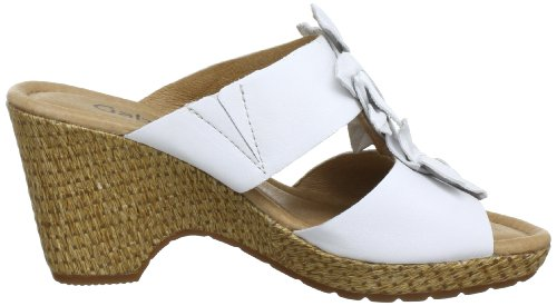 Gabor Shoes Gabor Comfort 6277460, Sandali col tacco donna Bianco (Weiß (weiss (ungelasert)))
