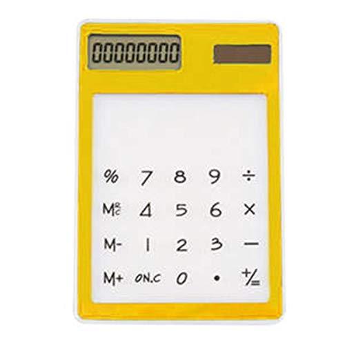 Yangyme Büromaterial Transparenter Ultra dünner Taschenrechner-bunter angetriebener Energie-Touch Screen wissenschaftlicher Taschenrechner-großer Knopf-Zähler für Hauptbüro der Schule - Lila