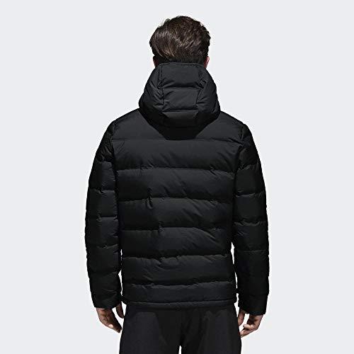 adidas Herren Helionic Hooded Daunenjacke, Black, S
