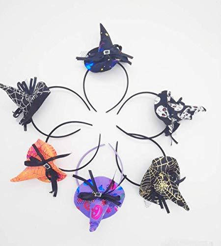 Shuny 5 Stück Halloween Stirnband Hexenhut Haarreif Halloween Hexe Hut Form Haarbänder Party Cosplay Kostüm Deko
