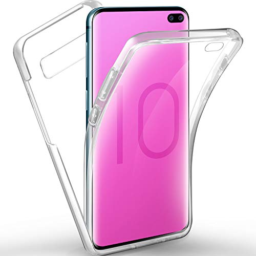 AROYI Coque Samsung Galaxy S10 Plus Etui, Transparent Silicone Gel Case Intégral 360 Degres Full Body Protection Anti-Rayures Coque Housse pour Samsung Galaxy S10 Plus