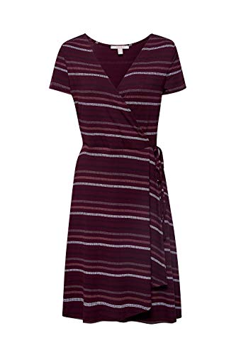 ESPRIT Stretch-Jersey-Kleid mit Wickel-Optik