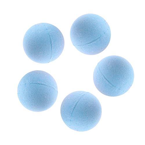Domybest 1pcs Bombe de Bain Saveur Plantes Boule Effervescente Bain Relax Soulagement du Stress de Corps Boule de Bain Naturel (5pcs, Sel de mer)