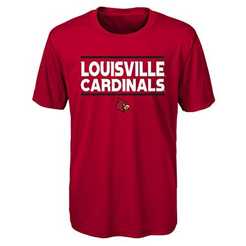 Gen 2NCAA Louisville Cardinals Jugend Jungen Short Sleeve Performance Tee, Jungen Youth, Jungen, K N8 48TUB 55-XL, dunkelrot, Youth Boys X-Large (18) -