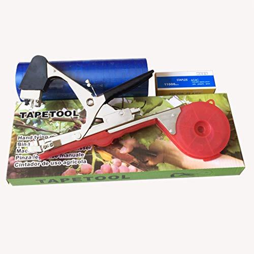 Garden Vine Bindeband-Werkzeug zum Binden von Bändern mit 20-Rollen-Klebeband for Gemüse, Trauben, Tomaten, Gurken, Paprika und Blumen -