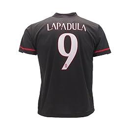Milan Maglia Lapadula 9 Replica Autorizzata 2016-2017 Tutte Le Taglie